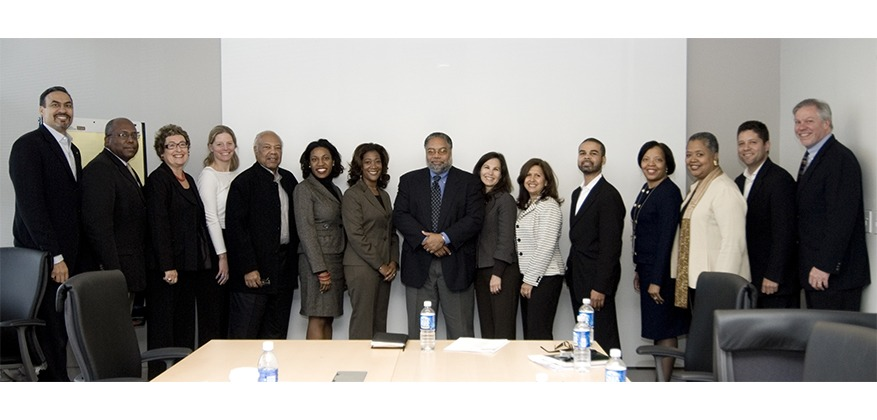 Phil Freelon, Gail Lord, Joy Bailey-Bryant, Lonnie Bunch and other members of the NMAAHC planning team