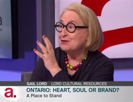 Gail Lord at TVO's The Agenda with Steve Paikin