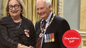 Gail Lord Invested as Member of the Order of Canada