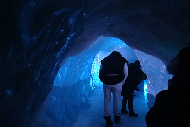 Inside the Glacier.