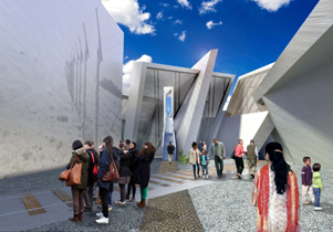 Rendering of Canada's National Holocaust Monument, Ottawa, ON